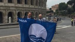 Fossacesia ritira a Roma la 15esima bandiera blu consecutiva