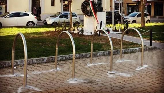 Cinque parcheggi per bici a Lanciano